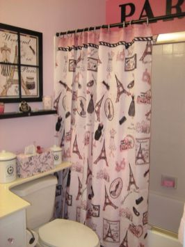 Beautiful Black And White Shower Curtains Design Ideas 19
