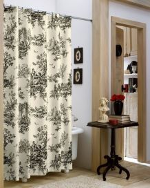 Beautiful Black And White Shower Curtains Design Ideas 27