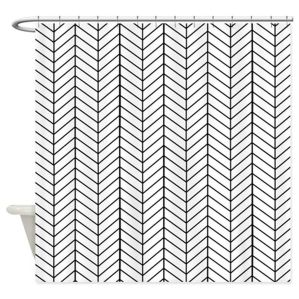 Beautiful Black And White Shower Curtains Design Ideas 59