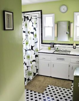 Beautiful Black And White Shower Curtains Design Ideas 61