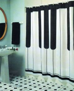 Beautiful Black And White Shower Curtains Design Ideas 68