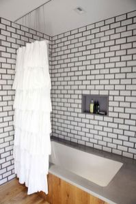 Beautiful Black And White Shower Curtains Design Ideas 76