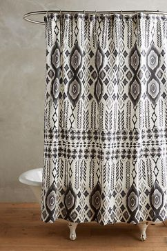 Beautiful Black And White Shower Curtains Design Ideas 80