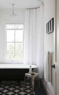 Beautiful Black And White Shower Curtains Design Ideas 84