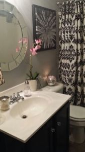 Beautiful Black And White Shower Curtains Design Ideas 95