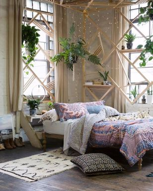 Comfy Boho Chic Style Bedroom Design Ideas 46