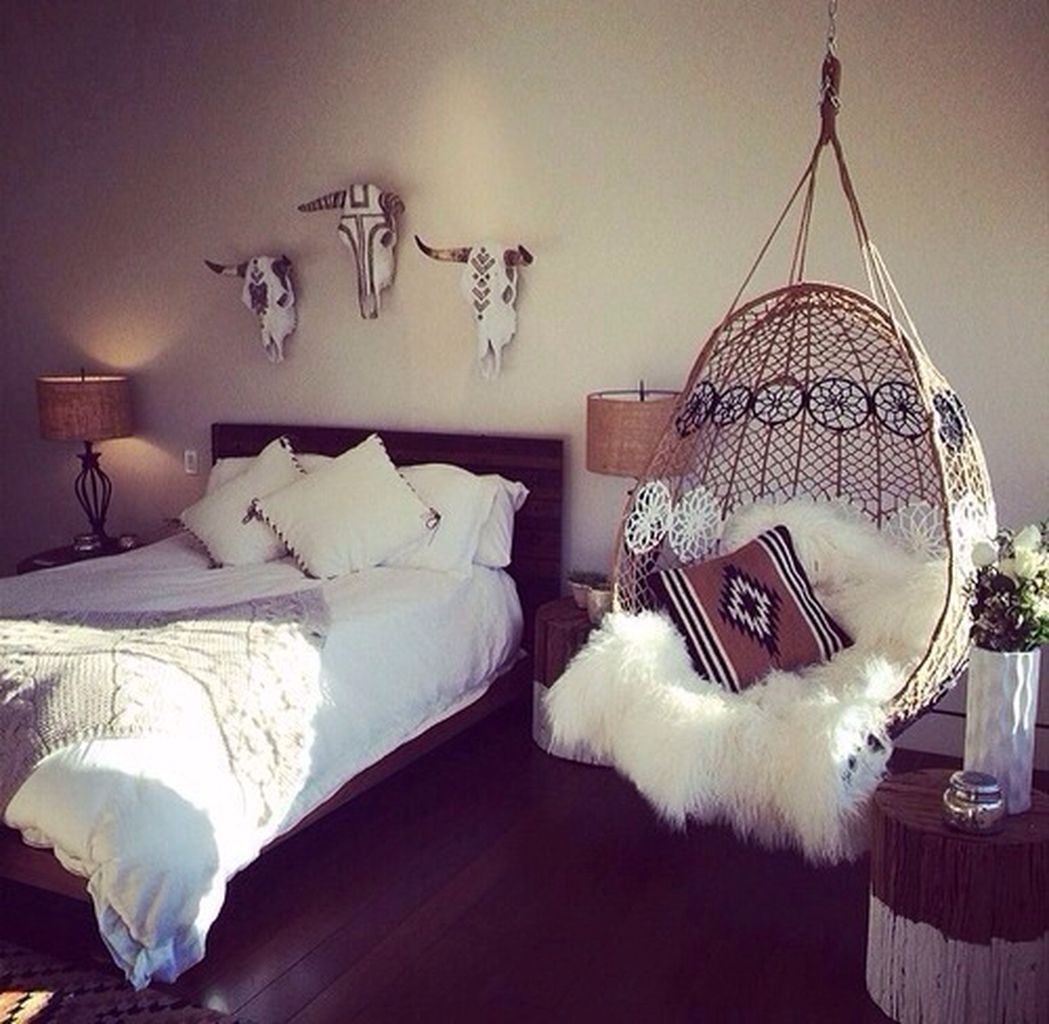 Comfy Boho Chic Style Bedroom Design Ideas 53