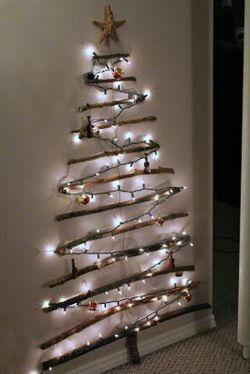 Space Saving Christmas Tree Ideas Suitable For Small Rooms 08