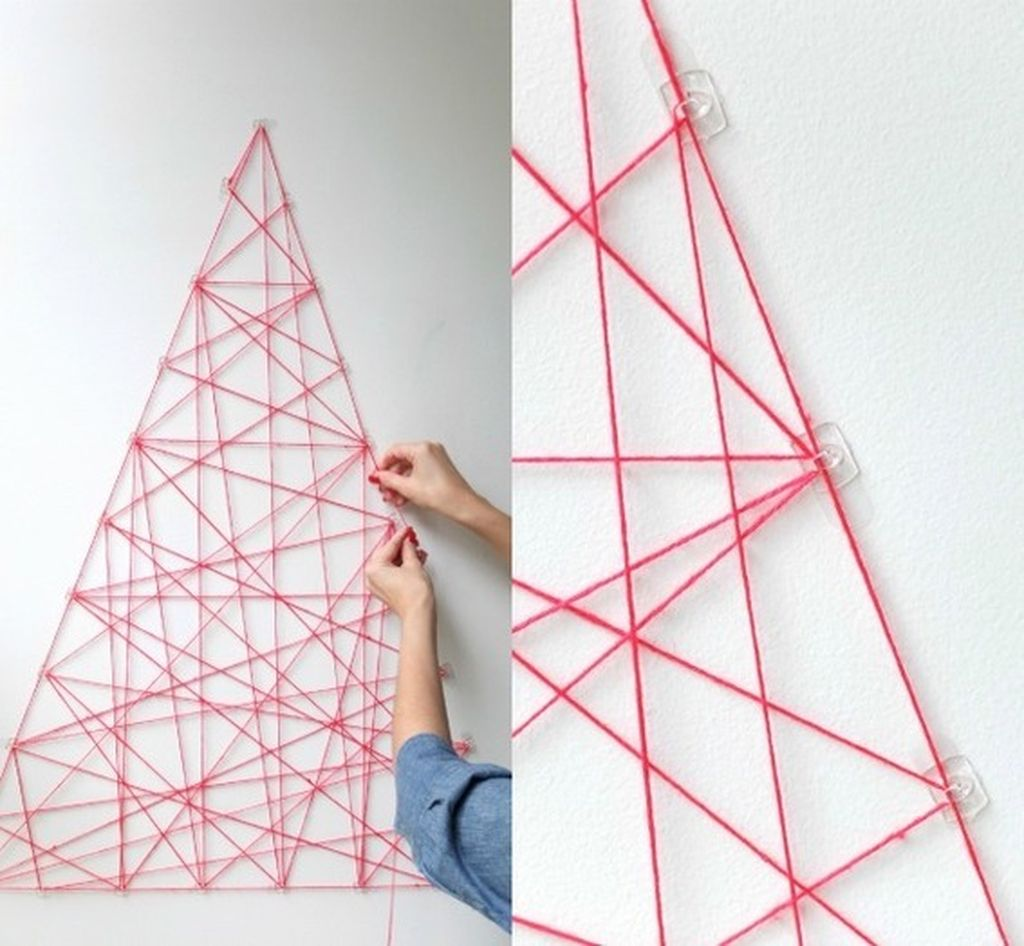 Space Saving Christmas Tree Ideas Suitable For Small Rooms 16