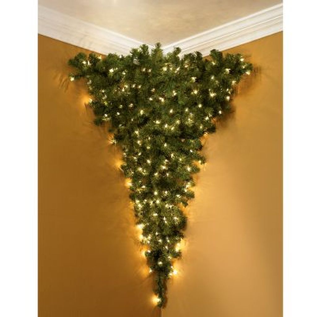 Space Saving Christmas Tree Ideas Suitable For Small Rooms 27