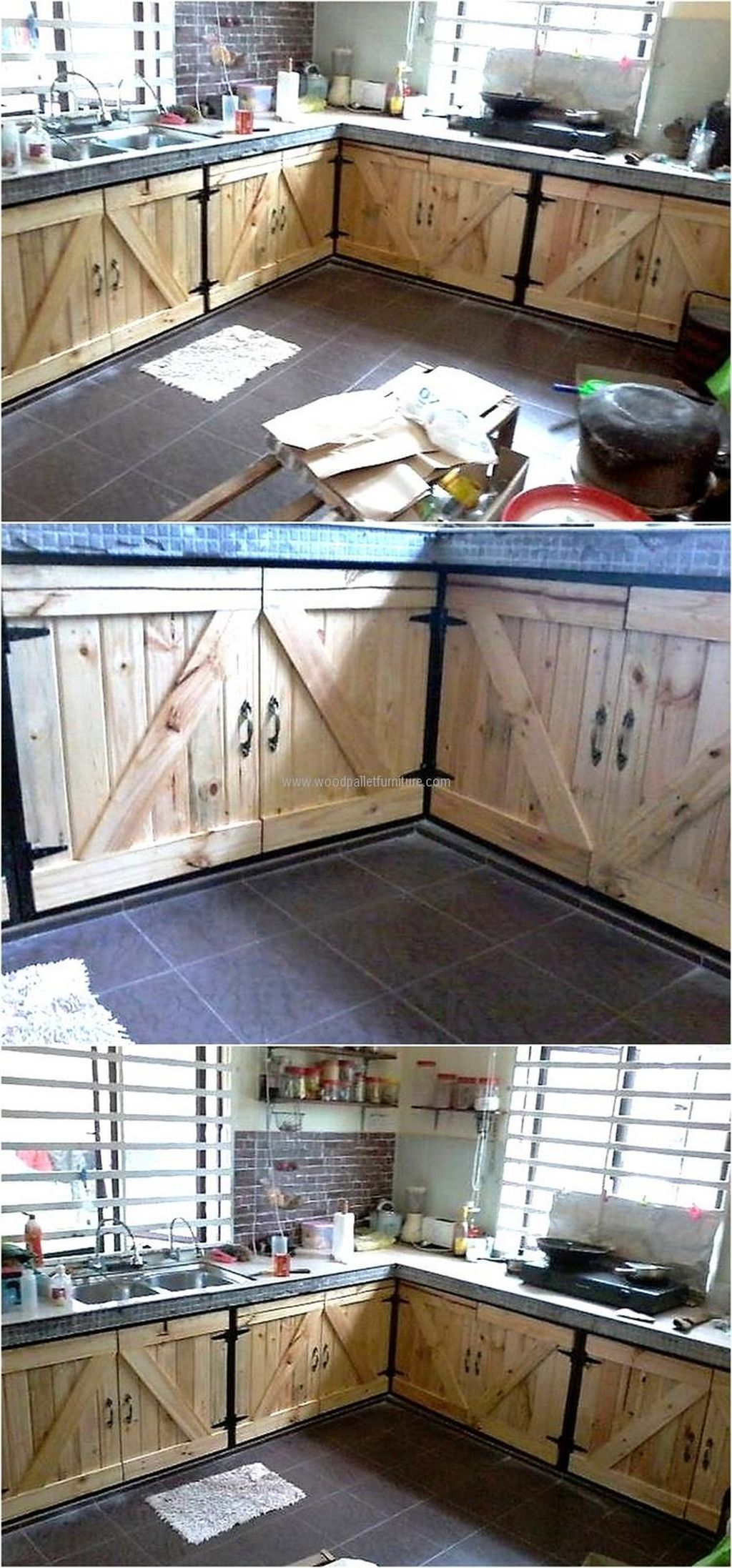 Beautiful Farmhouse Style Rustic Kitchen Cabinet Decoration Ideas 12