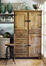 Beautiful Farmhouse Style Rustic Kitchen Cabinet Decoration Ideas 16