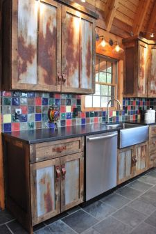 Beautiful Farmhouse Style Rustic Kitchen Cabinet Decoration Ideas 51
