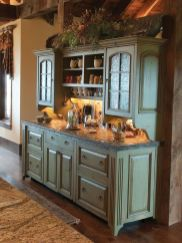 Beautiful Farmhouse Style Rustic Kitchen Cabinet Decoration Ideas 56