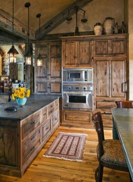 Beautiful Farmhouse Style Rustic Kitchen Cabinet Decoration Ideas 79