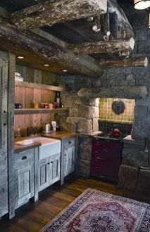 Beautiful Farmhouse Style Rustic Kitchen Cabinet Decoration Ideas 83