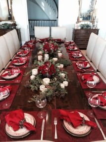 Beautiful Red Themed Kitchen Design Ideas For Christmas 33
