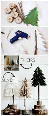 Easy And Creative DIY Christmas Tree Design Ideas You Can Try As Alternatives 07