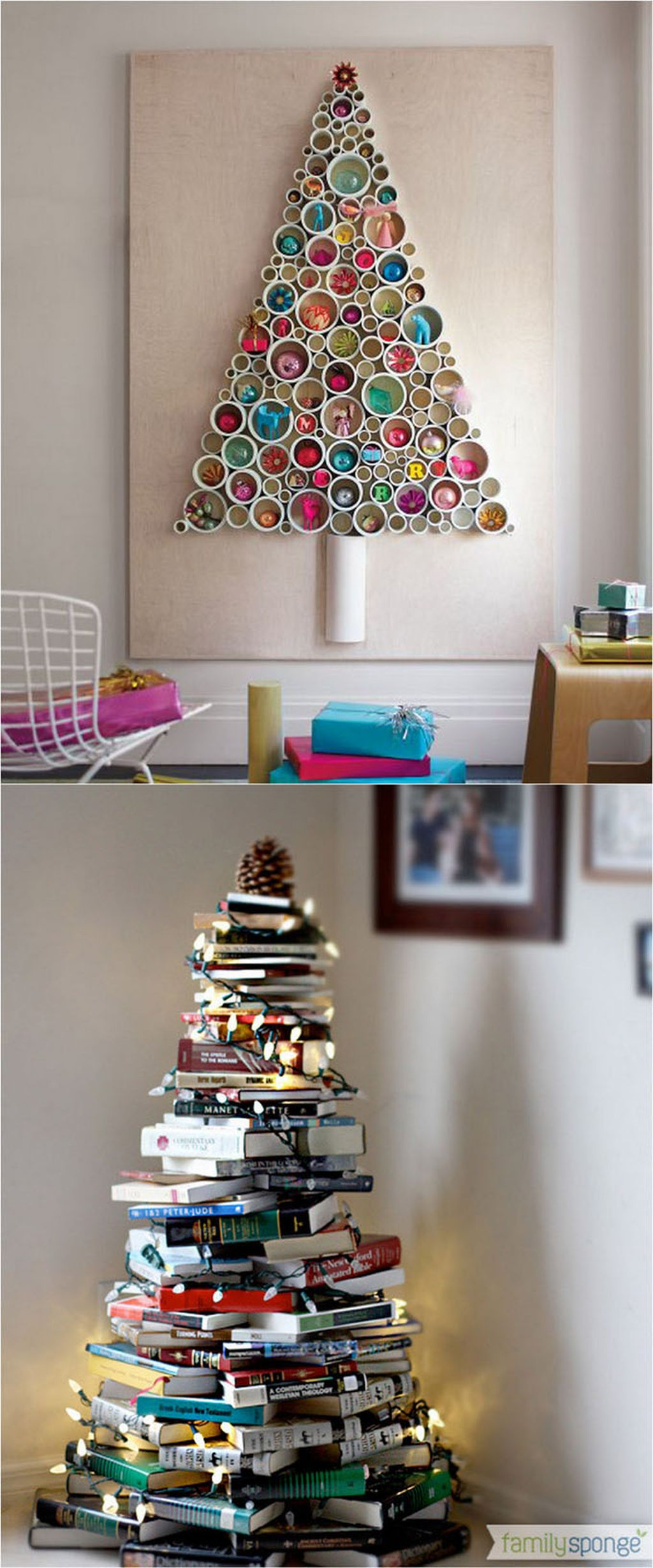 Easy And Creative DIY Christmas Tree Design Ideas You Can Try As Alternatives 38