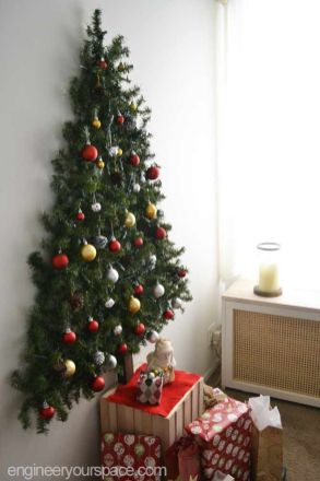 Easy And Creative DIY Christmas Tree Design Ideas You Can Try As Alternatives 52