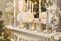 Elegant White Vintage Christmas Decoration Ideas 66