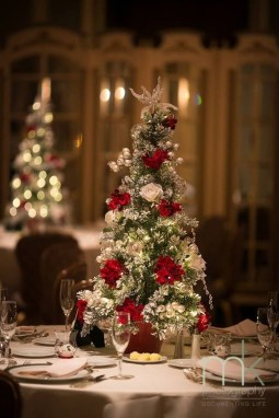 Elegant And Beautiful Tabletop Christmas Tree Centerpieces Ideas 34