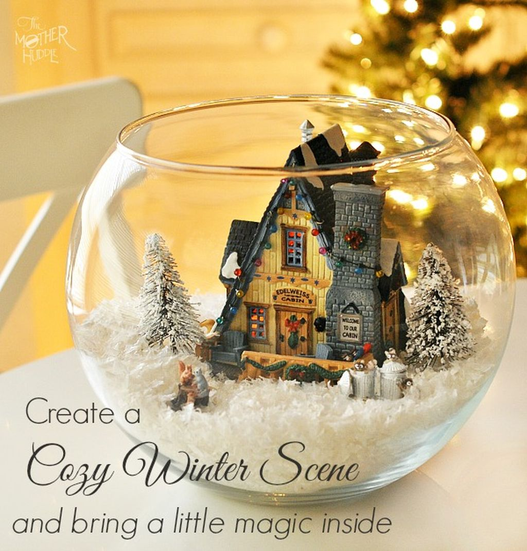 Inspiring Modern Rustic Christmas Centerpieces Ideas With Candles 22