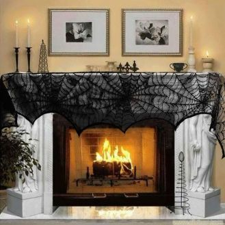 Scary But Classy Halloween Fireplace Decoration Ideas 02