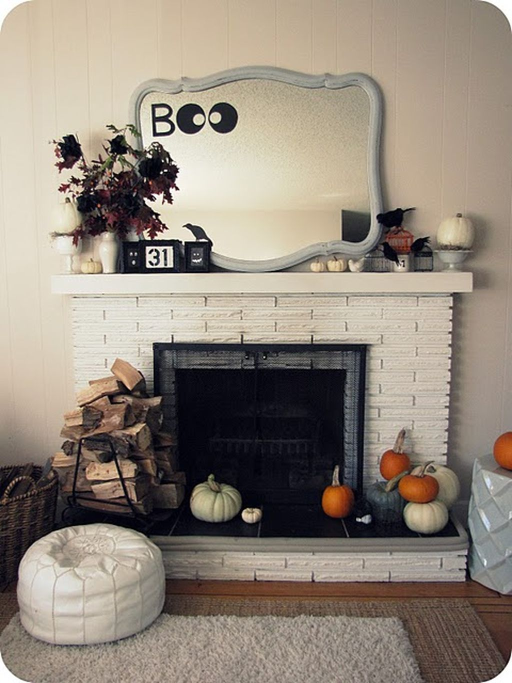 Scary But Classy Halloween Fireplace Decoration Ideas 11