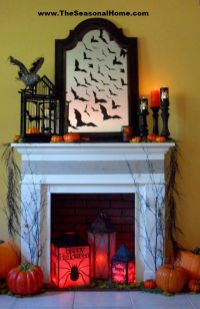 Scary But Classy Halloween Fireplace Decoration Ideas 18