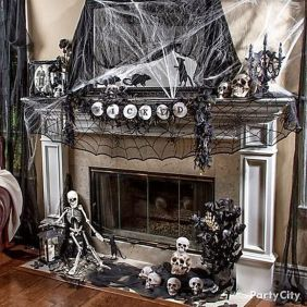 Scary But Classy Halloween Fireplace Decoration Ideas 25