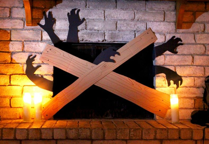 Scary But Classy Halloween Fireplace Decoration Ideas 29