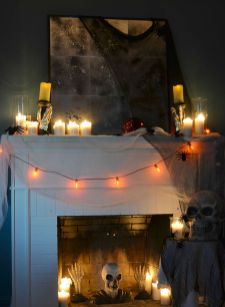 Scary But Classy Halloween Fireplace Decoration Ideas 33