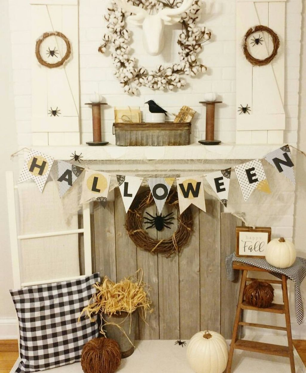 Scary But Classy Halloween Fireplace Decoration Ideas 46