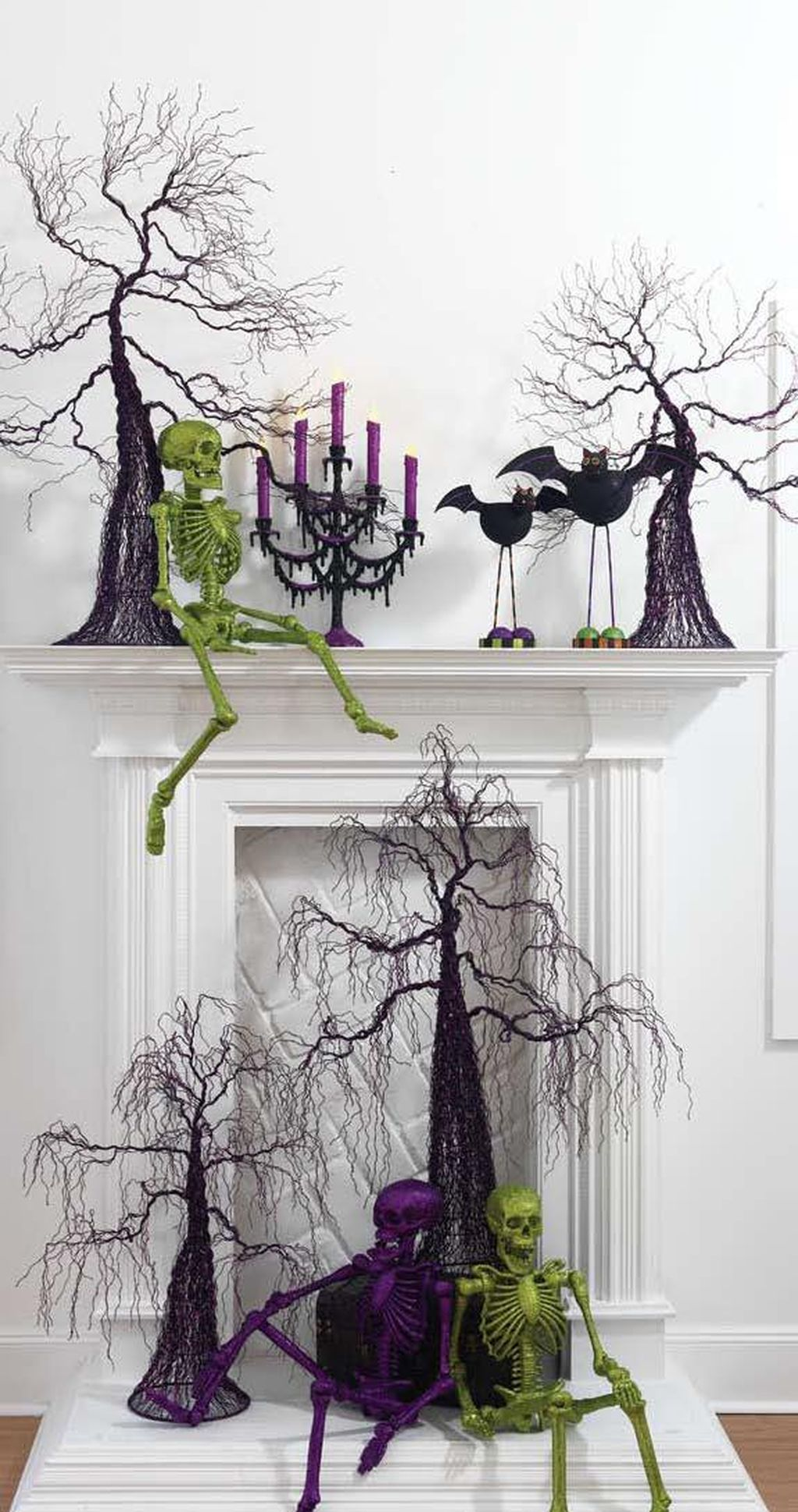 Scary But Classy Halloween Fireplace Decoration Ideas 48