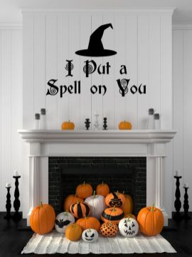 Scary But Classy Halloween Fireplace Decoration Ideas 65