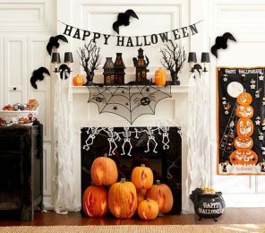 Scary But Classy Halloween Fireplace Decoration Ideas 71