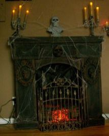 Scary But Classy Halloween Fireplace Decoration Ideas 97