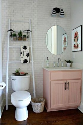 Simple And Clean Apartment Bathroom Decoration Ideas Suitable For You Who Living With Roomates 25