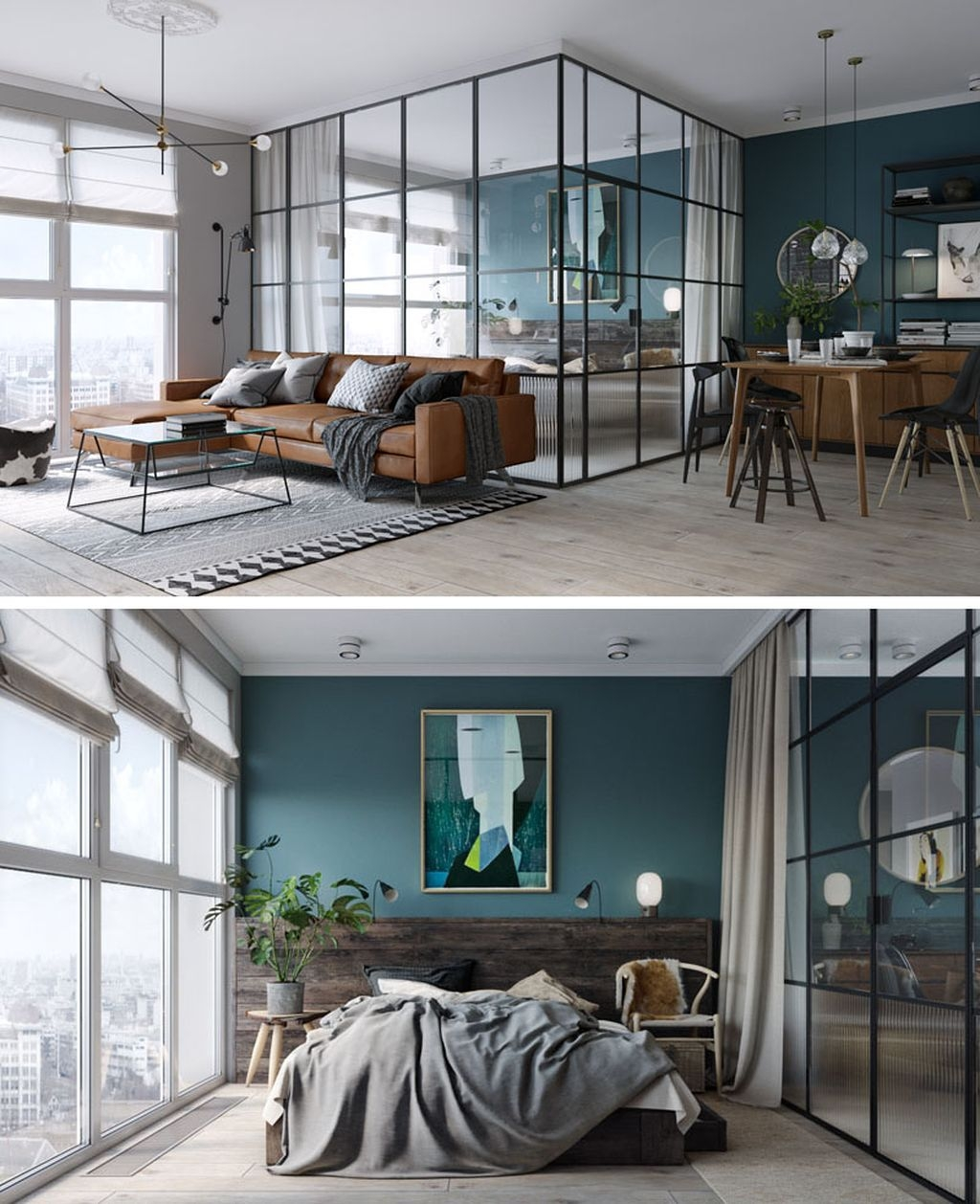 Totally Brilliant Bedroom Design Ideas For Small Apartment 29