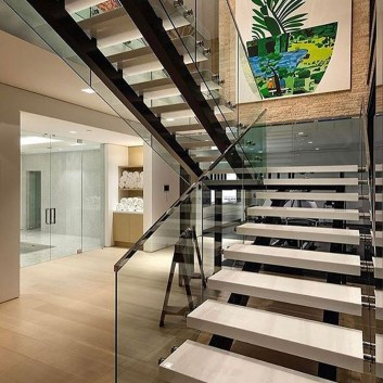 Totally Inspiring Residential Staircase Design Ideas You Can Apply For Your Home 75