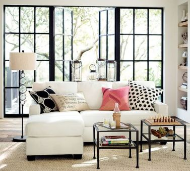 Totally Outstanding Sectional Sofa Decoration Ideas With Lamps 36