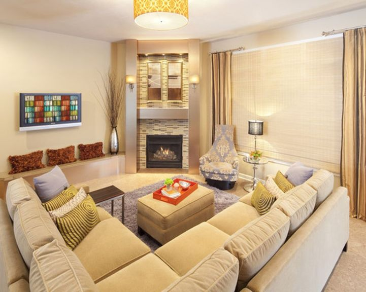 Totally Outstanding Sectional Sofa Decoration Ideas With Lamps 54