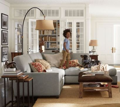 Totally Outstanding Sectional Sofa Decoration Ideas With Lamps 74