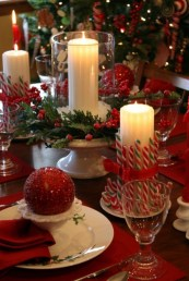 Romantic Christmas Centerpieces Ideas With Candles 51