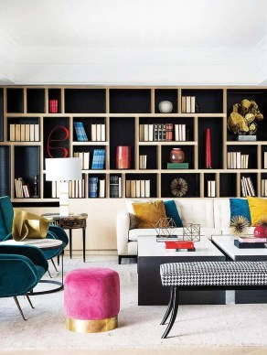 Bright And Colorful Living Room Design Ideas34