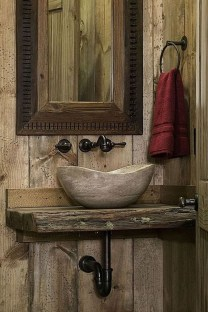 Cool Rustic Modern Bathroom Remodel Ideas 11