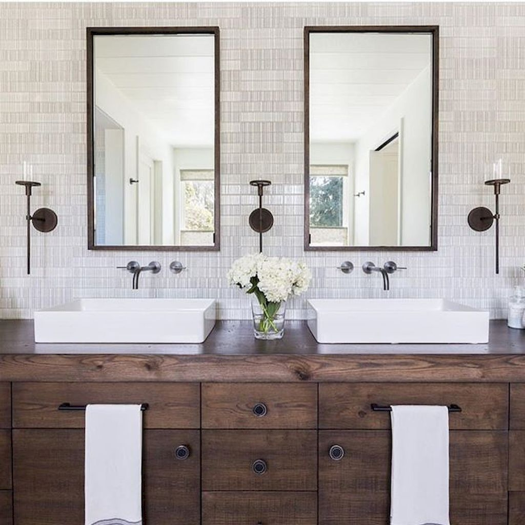 Cool Rustic Modern Bathroom Remodel Ideas 21