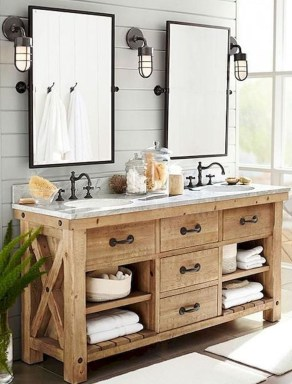 Cool Rustic Modern Bathroom Remodel Ideas 26