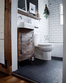 Cool Rustic Modern Bathroom Remodel Ideas 28
